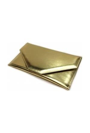Milles Dore Altın Renk Zarf Abiye Çanta