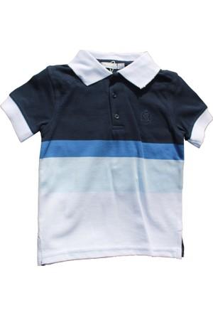 Monna Rosa Mavi Şortlu Polo Yaka Tişörtlü Takım 2-6 Yaş