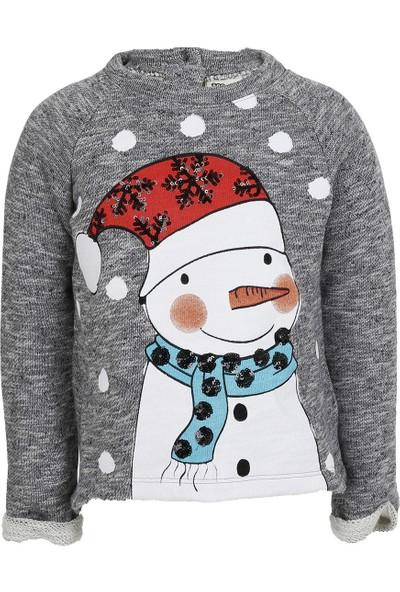 Soobe Snow Chic Kız Çocuk Sweatshirt Taş (1-7 Yaş)
