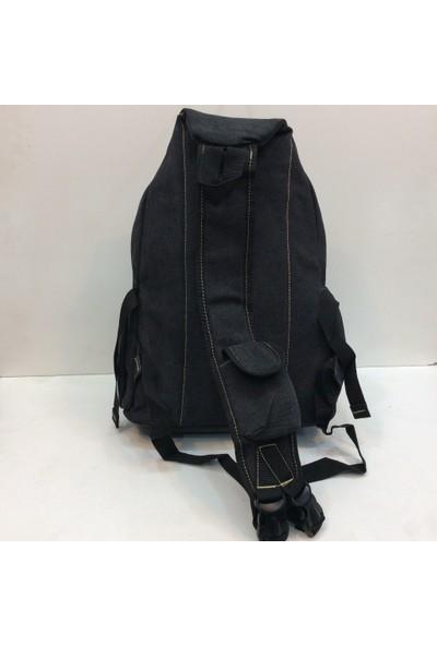 Moda Canvas Tek Askılı Sırt Çantası Siyah Ebat 40 Cm 30 Cm