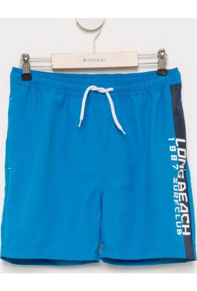 DeFacto Erkek Çocuk Bağcıklı Yüzme Şortu Mavi