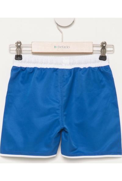 DeFacto Erkek Çocuk Baskılı Yüzme Şortu Mavi