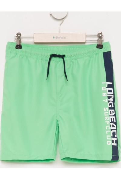 DeFacto Erkek Çocuk Bağcıklı Yüzme Şortu Yeşil