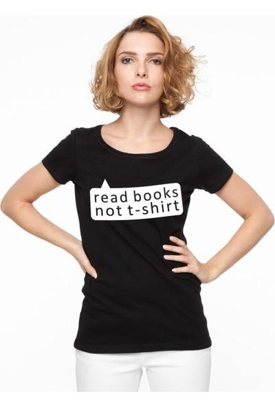 Tshirthane Read Book Siyah Tshırt T-Shirt