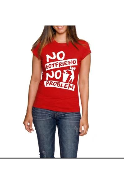Tshirthane No Boyfriend Siyah Tshırt T-Shirt