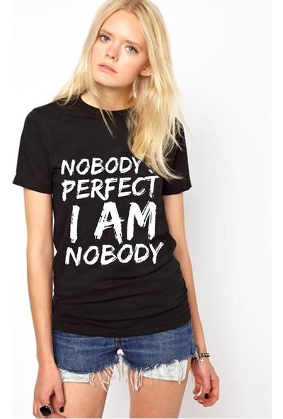 Tshirthane Nobody Perfect Kırmızı Tshırt T-Shirt