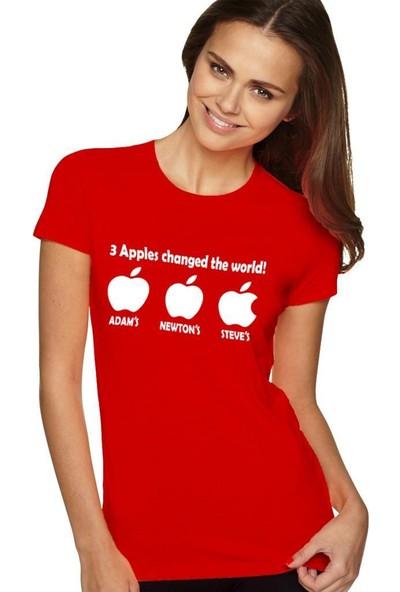 Tshirthane Apple Changed Siyah Tshırt T-Shirt