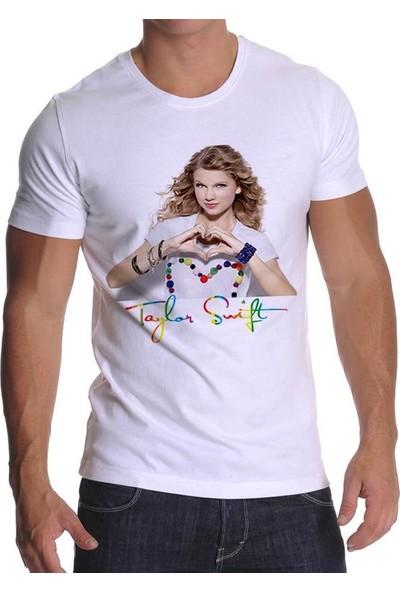 Tshirthane Taylor Swift Beyaz T-Shirt