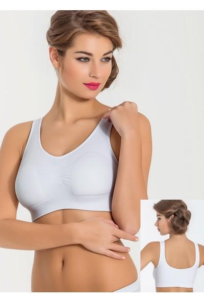 Miss Fit 11027 Kadın Kalın Askılı Pedli Büstiyer