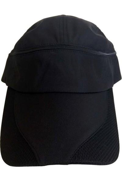 Kazandıran Outlet Erkek Siyah Gölgelikli Şapka