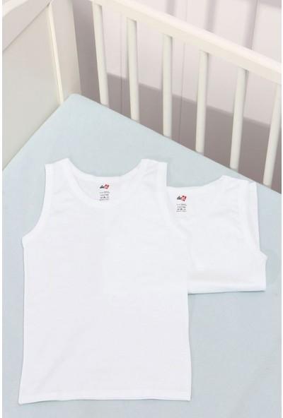 Beyaz 2'Li Pamuk Erkek Çocuk Atlet