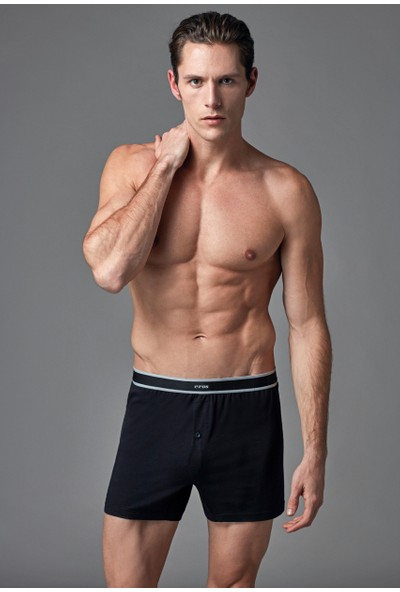 Eros Erkek 2'li Modal Boxer Siyah ES011511