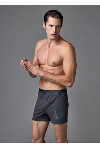 Eros Erkek 2'li Penye Boxer Antrasit ES011527