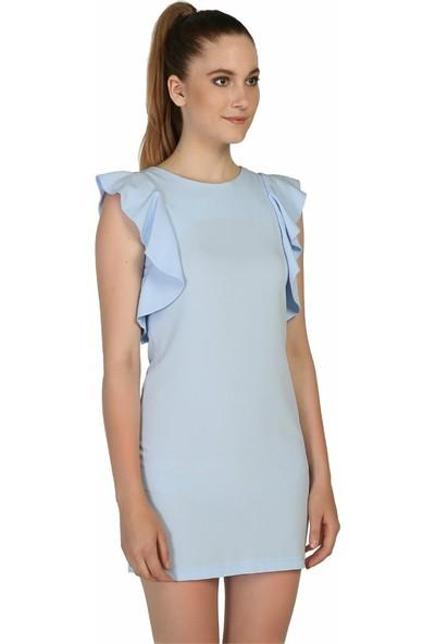 Dm Sırtı Açık Mavi Elbise