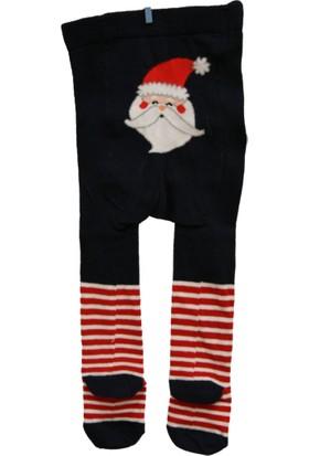 Calza Bella Çocuk Külotlu Çorap - Lacivert Noel Baba