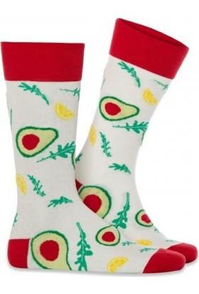 4lü Paket Meyve ve Sebze Desenli Erkek Soket Çoraplar PKT91