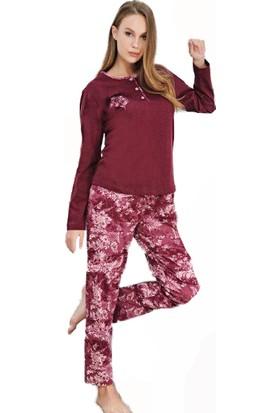 Çelebi 627 Kadın Kışlık Desenli Pijama Takım