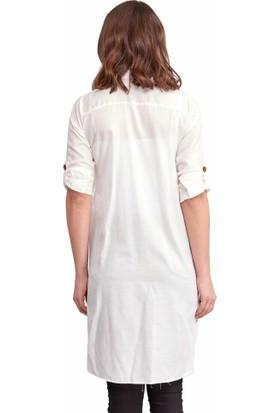 Reyon Kadın 19547 Beyaz Tunik