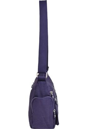 Smart Bags Krinkıl Kumaş Mor Çapraz Çanta