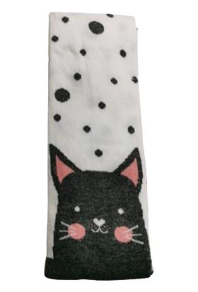 Suna Kız Çocuk Renkli Kedi Desenli Külotlu Çorap SN003