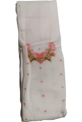 Suna Kız Çocuk Beyaz Desenli Külotlu Çorap SN008