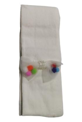 Suna Kız Çocuk Renkli Fiyonk Desenli Külotlu Çorap SN004