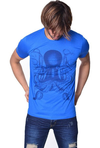 Icb London Iceboys Ahtapot Baskılı Erkek T-Shirt S73-6003