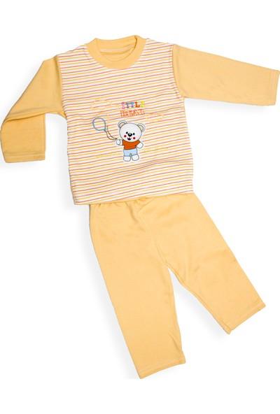Levent Bebe Erkek Çocuk Ayıcık Nakışlı Pijama Takımı