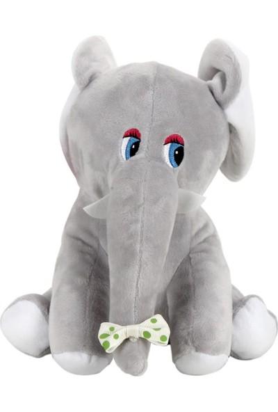 Hediyekanalı Sevimli Gri Fil Peluş Oyuncak 25 cm Fil Tasarımlı Kupa Hediye Seti