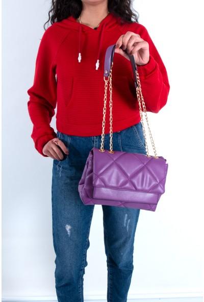 Byhakan HK-061 Kadın Çapraz Çanta Mor