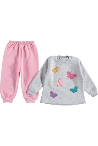 Nafitto Kız Çocuk Pijama Takımı Kelebek Nakış 2'li