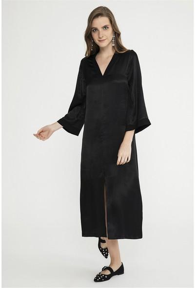 Jly Siyah Elbise Siyah 34