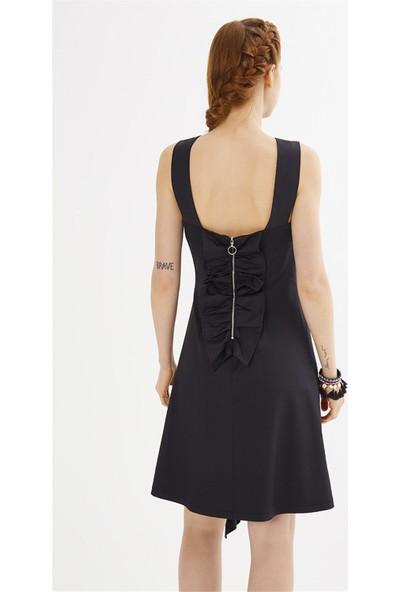 Jly Siyah Elbise Siyah 36