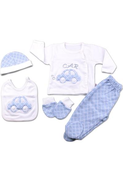 Gaye Bebe Arabalı 5'li Bebek Hastane Çıkış Seti 767