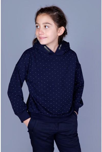 Toontoy Kız Çocuk Taş İşlemeli Sweatshirt