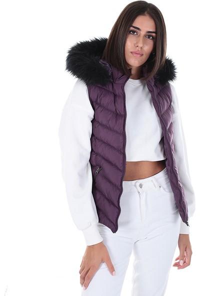 Brendon Kadın Kapüşonlu Yelek 264 Mor/purple 20W53000264Y