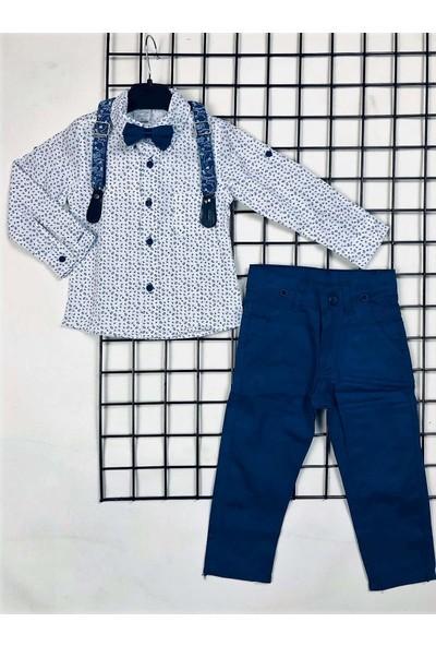 Terry Uzun Pantolon Erkek Çocuk Takımı