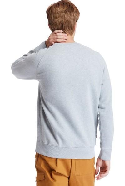 Tımberland Gri Ls Exeter River Basic Brushed Back Crew Erkek Sweatshirt TB0A2BNK0521