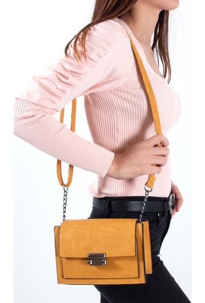 Byhakan HK-071 Kadın Çapraz Çanta Hardal