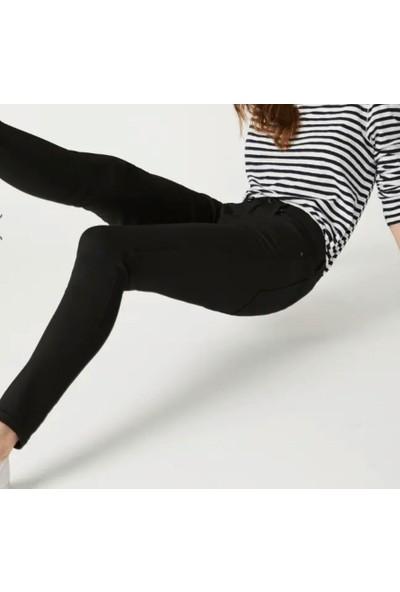 Kübra tekstil Kadın Siyah Kot Pantalon