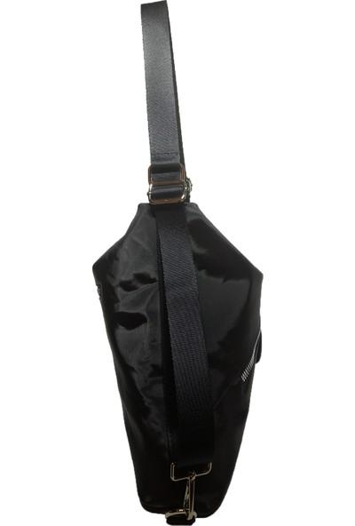 Moor Original Desing Siyah Kadın Paraşüt Kumaş Çift Fermuarlı Cepli Tote Sırt Çantası Ve Omuz Çantası