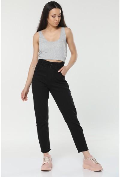 Çiçek Butik Mom Jeans Kadın Kot Pantolon