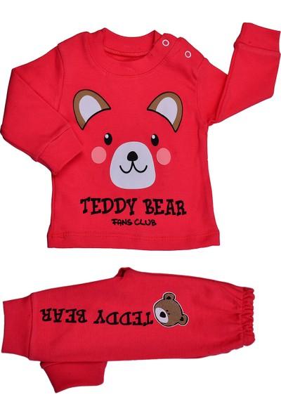 Bebeemm 6731 Ayıcık Kız Çocuk Pijama Takım 3-12 Ay