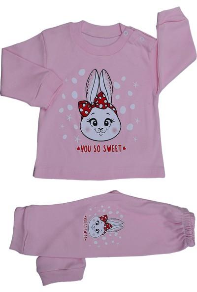 Bebeemm 6734 Kız Çocuk Aylık Pijama Takımı 3-12 Ay