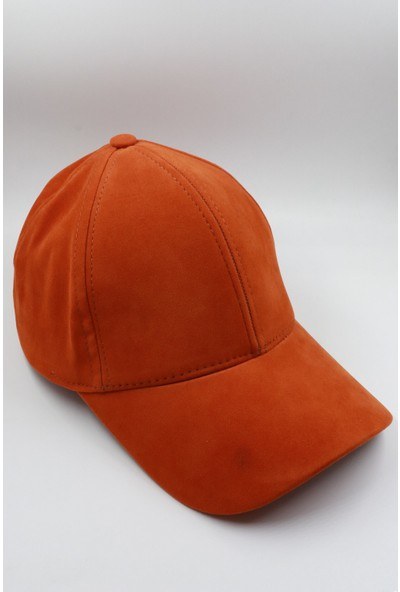 Seozke Turuncu Süet Şapka