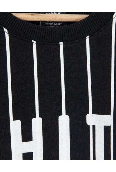 HyperX White Black Erkek Sweatshirt HYP1000SY