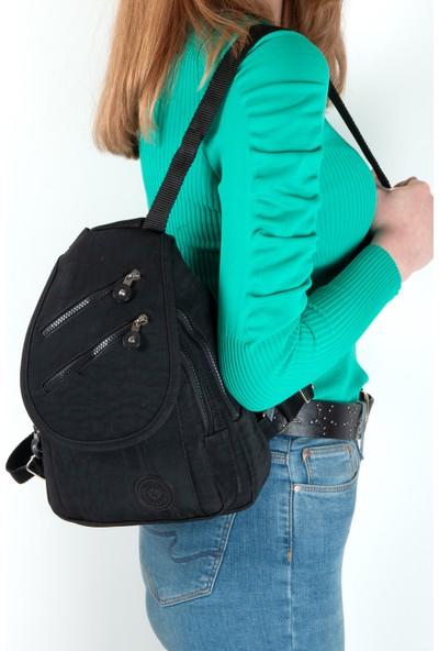Byhakan HK-056 Kadın Krinkıl Sırt Çanta Siyah
