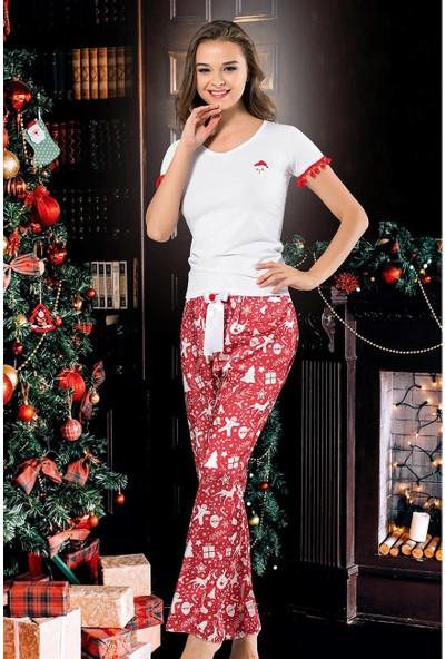 Asimod Vip Madame Kadın Noel Yıl Başı Pijama Takım
