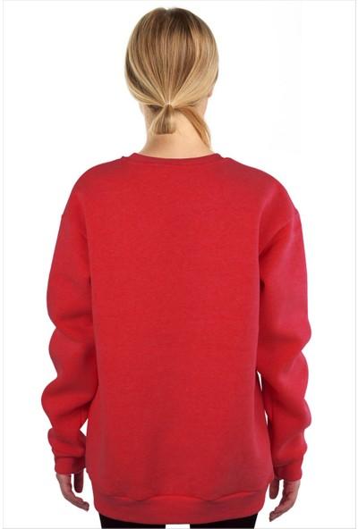 Ayyıldız Kadın Yuvarlak Yaka Kırmızı Sweatshirt 59526
