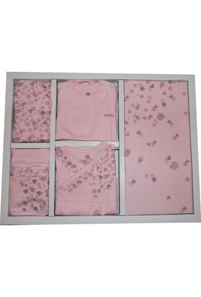 Bibaby Pink Clover Kız Bebek 10LU Yeni Doğan Hastane Çıkışı Set